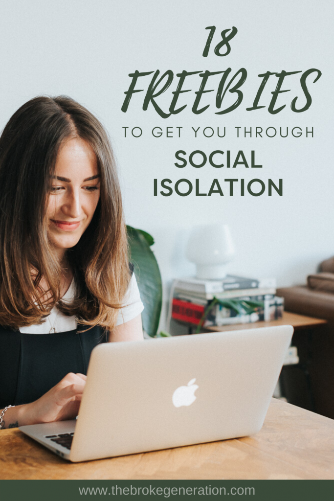 18 online freebie offers to get you through social isolation