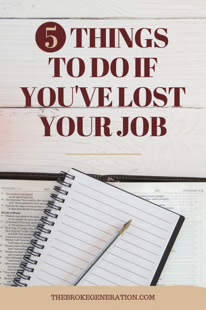 5 things to do if you have lost your job