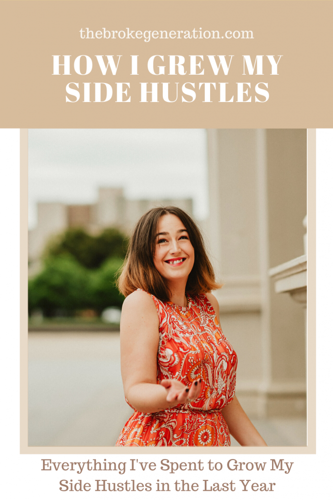 Everything I've spent to grow my side hustles in the last year