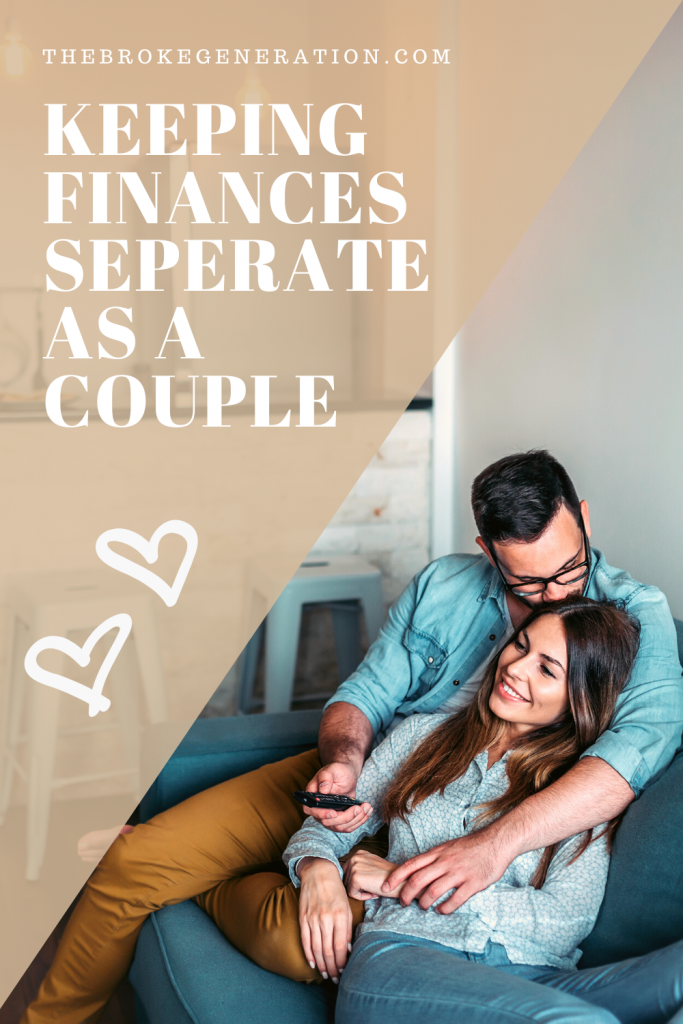Keeping finances seperate as a couple