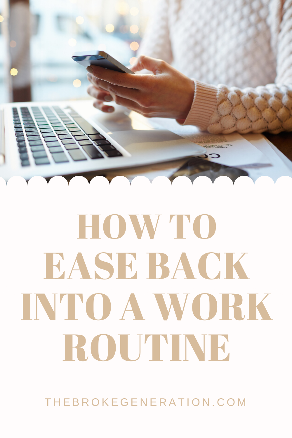 How to ease back into a work routine