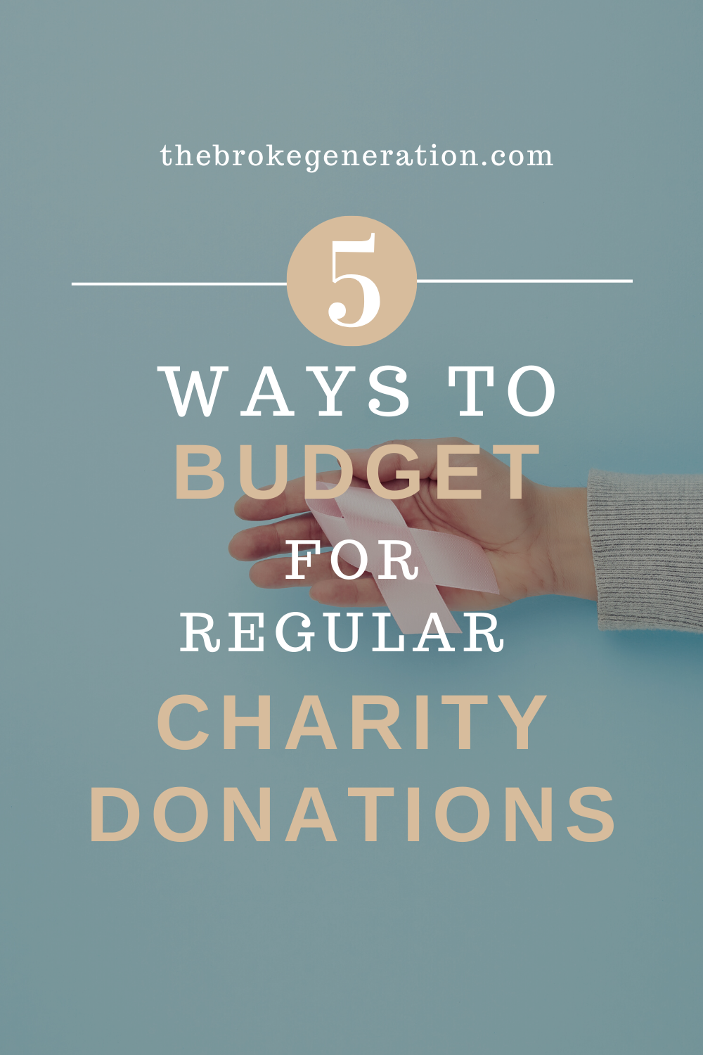 5 Ways to Budget for Regular Charity Donations